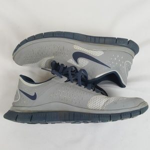Nike Free 4.0 V2 grey blue sneakers size 8.5